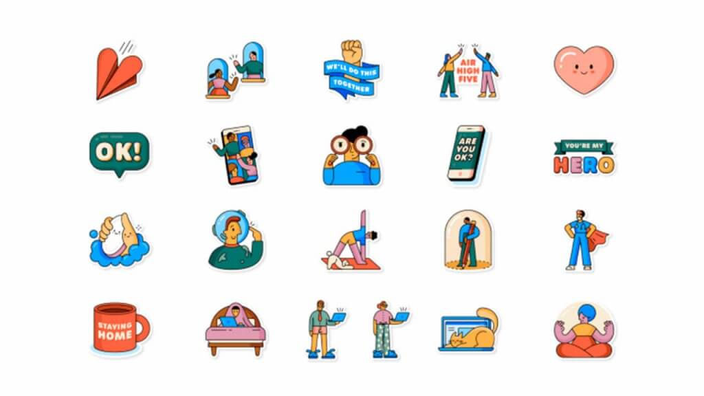 Whatsapp lanza 21 stickers nuevos con motivo del coronavirus